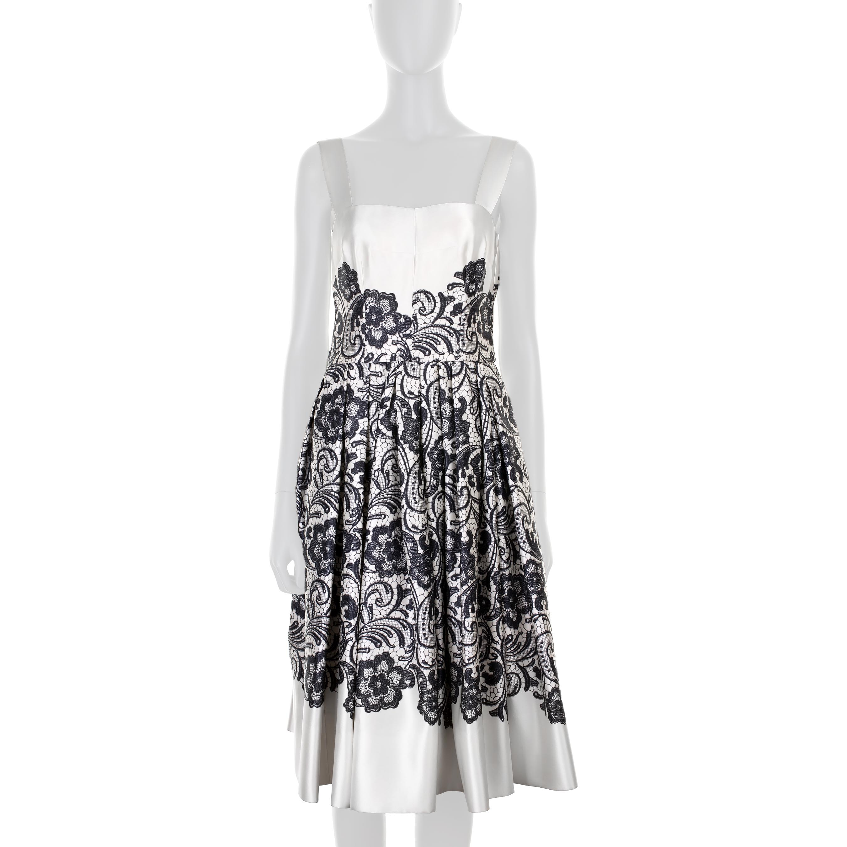 Lace Printed Silk Cocktail Dress by Dolce e Gabbana - Le Dressing Monaco