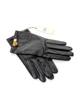 Black Soya Woman's Lambskin Gloves - Le Dressing Monaco