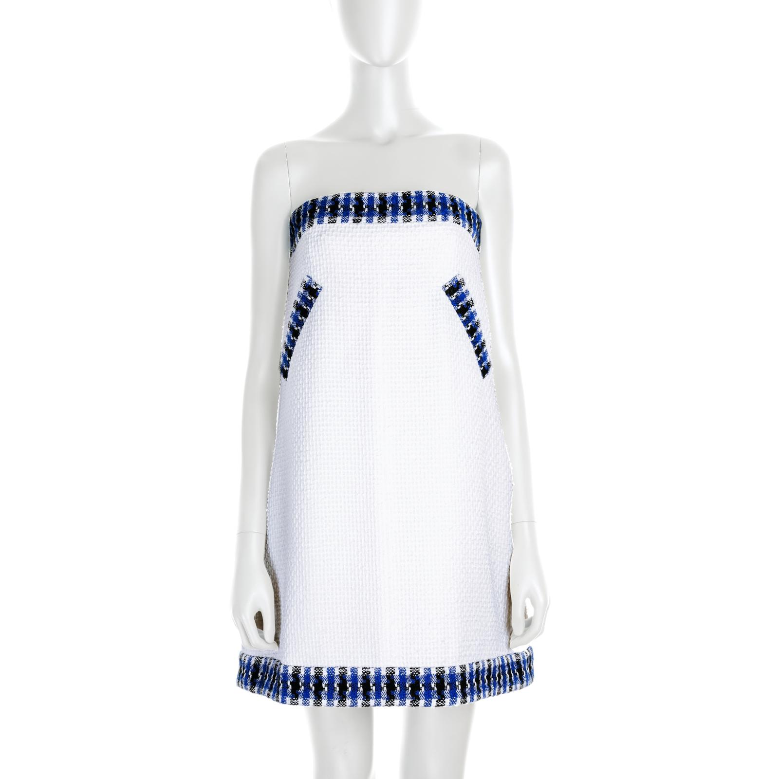 Mini Cotton Bustier Dress by Chanel - Le Dressing Monaco