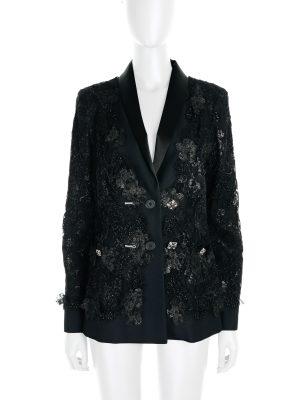 Black Lace Blazer by Chanel - Le Dressing Monaco
