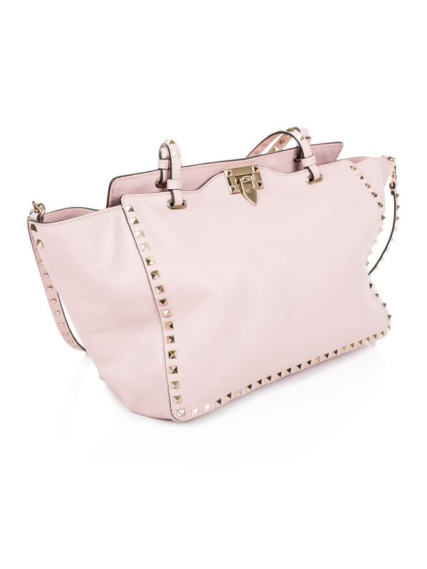 Rockstuds shopper in pink by Valentino - Le Dressing Monaco