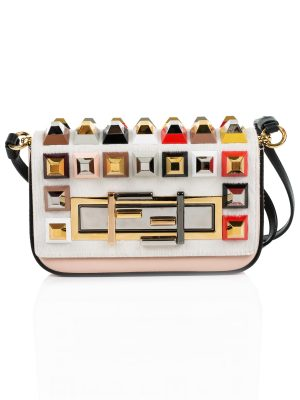 Baguette and Studded Fur Crossbody Bag by Fendi - Le Dressing Monaco