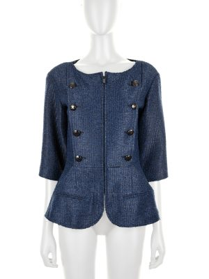 Zipped Jacket with ¾ Sleeves by Chanel - Le Dressing Monaco