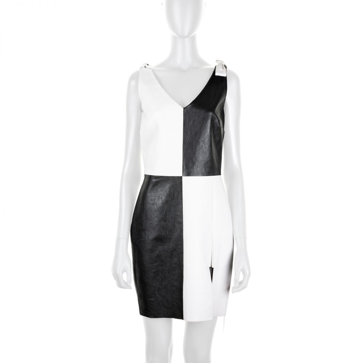 c6d6b5c4270 Checked Leather Dress with Bows by Saint Laurent - Le Dressing Monaco