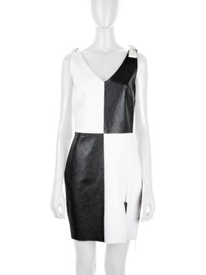 Checked Leather Dress with Bows by Saint Laurent - Le Dressing Monaco