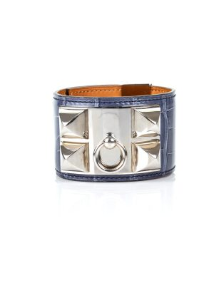 Shop this Brighton Blue Collier de Chien Manchette by Hermès at Le Dressing Monaco - 100% Authentic luxury items. Enjoy free shipping in Europe.