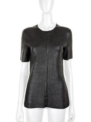 Black Python Printed T-shirt by Gucci - Le Dressing Monaco