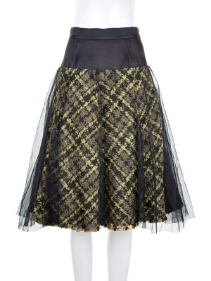 Tartan Skirt with Tulle by Louis Vuitton - Le Dressing Monaco