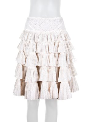Dotted Ruffle Skirt by Alaia - Le Dressing Monaco