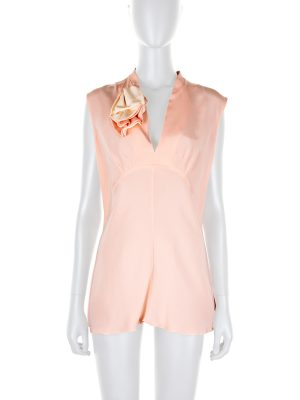 Pink V-Neck Silk Top with Flower by Marni - Le Dressing Monaco