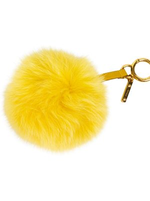 Yellow Pom Pom Bag Charm by Fendi at Le Dressing Monaco