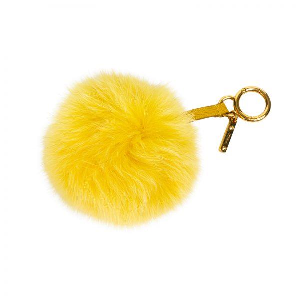 Yellow Pom Pom Bag Charm by Fendi at Le Dressing Monaco