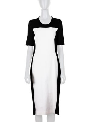 Pencil Dress with White Rectangular Print by Stella McCartney -Le Dressing Monaco