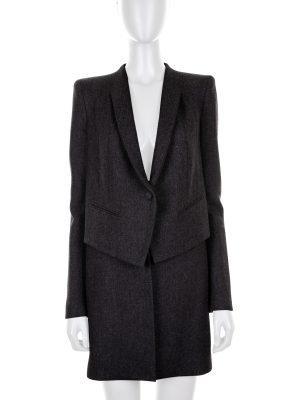 Grey Wool Cashmere Coat by Givenchy - Le Dressing Monaco