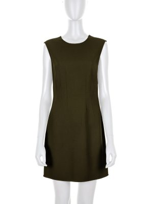 Khaki Dress with Gold Zipper by Versace - Le Dressing Monaco