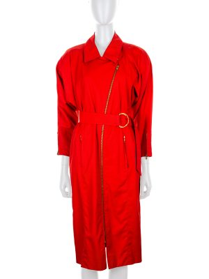 Vintage Red Trench Dress by Hermès - Le Dressing Monaco