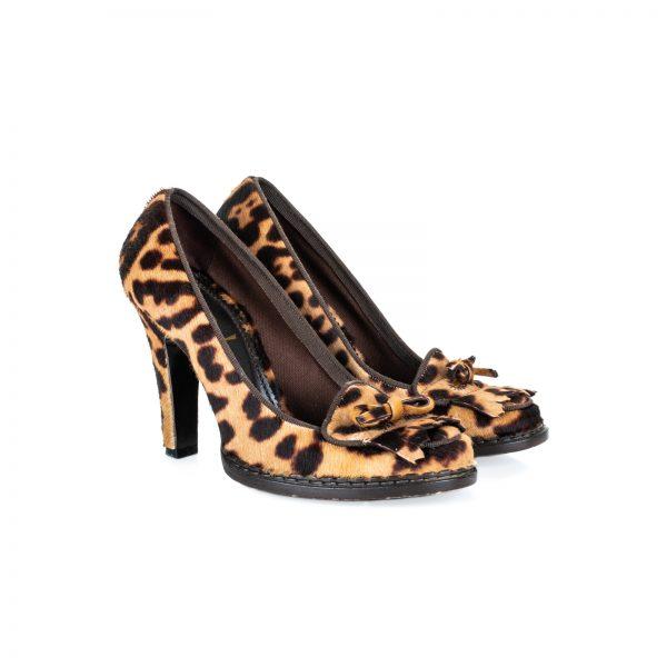 Leopard High Heel Mocassin Shoes by Yves Saint Laurent - Le Dressing Monaco