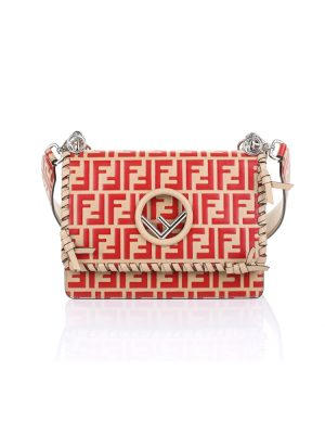Fendi Kan F Bag in Red and Beige by Fendi - Le Dressing Monaco