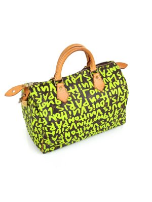 Speedy Graffiti 30 Green by Louis Vuitton - Le Dressing Monaco