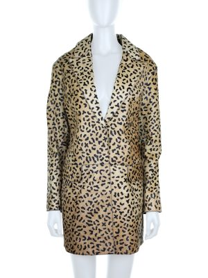 Leopard Printed Leather Coat by Alexander McQueen - Le Dressing Monaco