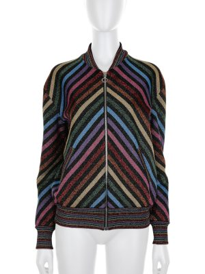 Rainbow Lurex Chevron Bomber Jacket by Gucci - Le Dressing Monaco