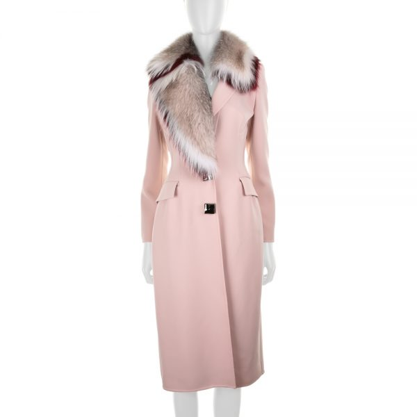 Long Coat with Fox Collar by Ermanno Scervino - Le Dressing Monaco