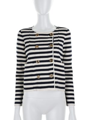 Navy Striped Jacket by Sonia Rykiel - Le Dressing Monaco