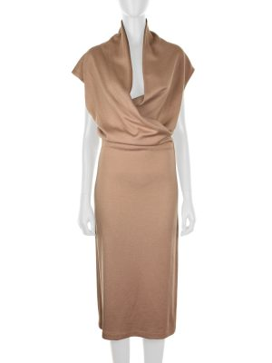Long Wool Knitted Pencil Dress by Bottega Veneta - Le Dressing Monaco