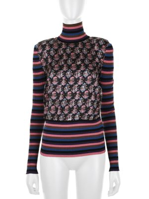 Turtleneck Mushroom Print Top by Gucci - Le Dressing Monaco