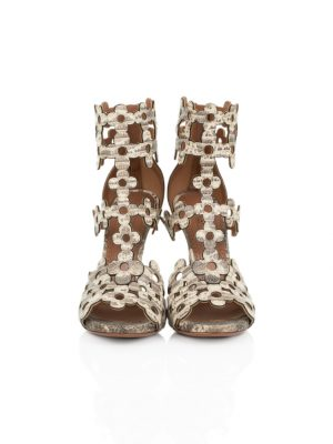 Flower Laser Cut Ankle Sandals by Alaia - Le Dressing Monaco