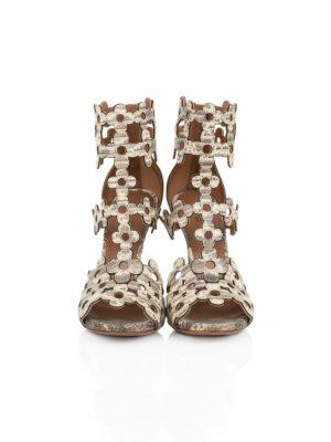 Flower Laser Cut Ankle Sandals by Alaia - Le Dressing Monaco