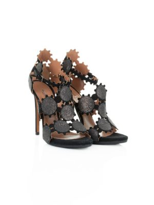 Suede and Galuchat Ankle Sandals by Alaia - Le Dressing Monaco