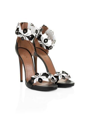 Black and White Open Sandals by Alaia - Le Dressing Monaco