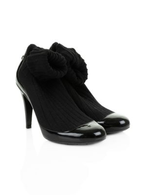 Patent Leather Sock Boots by Chanel - Le Dressing Monaco