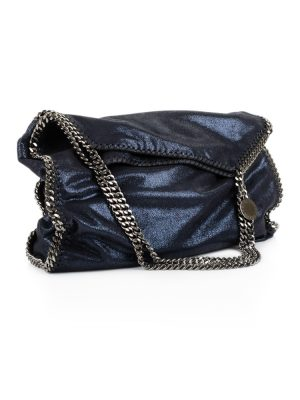 Blue Metallic Falabella Bag by Stella McCartney - Le Dressing Monaco