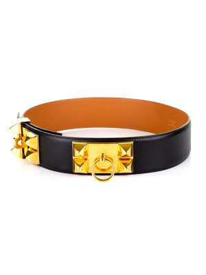 Black Box Leather Collier de Chien Belt by Hermes - Le Dressing Monaco