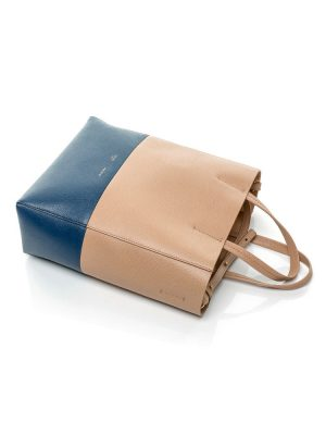 Leather Bicolor Shopper With Strap by Céline - Le Dressing Monaco