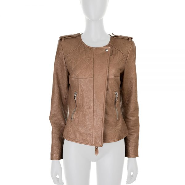 Brown Leather Jacket by Isabel Marant - Le Dressing Monaco