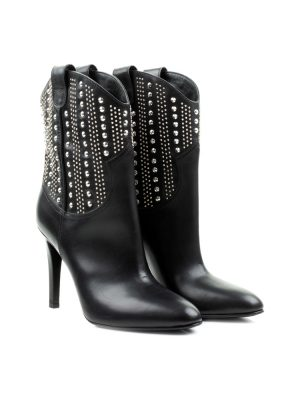 High Heel Western Studded Boots by Saint Laurent - Le Dressing Monaco