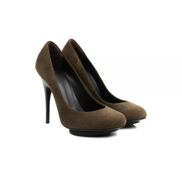 Khaki Pumps with Plateau by Giuseppe Zanotti - Le Dressing Monaco