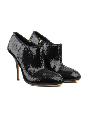 Black Sequin Ankle Boots by Gucci - Le Dressing Monaco