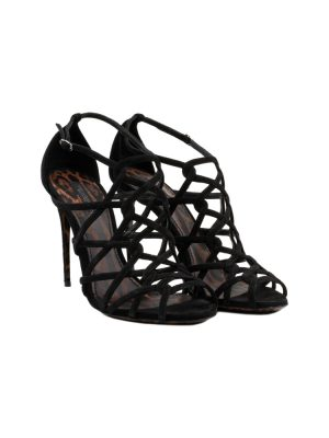 Interlaced Suede Sandals by Dolce e Gabbana - Le Dressing Monaco