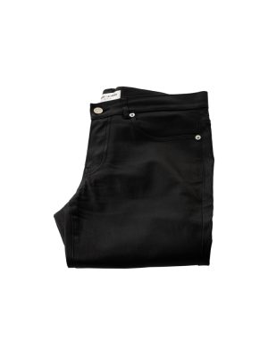 Low Waist Black Slim Leather Pants by Saint Laurent - Le Dressing Monaco