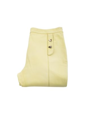 Light Yellow Leather Pants by Vionnet - Le Dressing Monaco