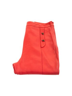 Red Leather Pants by Vionnet - Le Dressing Monaco
