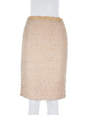 Tweed Pencil Skirt With Sequins by Chanel - Le Dressing Monaco