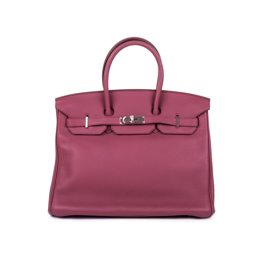 Birkin 35 Bois de Rose Taurillon Clémence by Hermès - Le Dressing Monaco 689ac89458