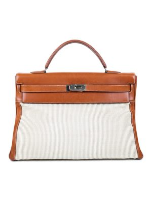 Kelly 40 Leather and Horsehair with Strap by Hermès - Le Dressing Monaco