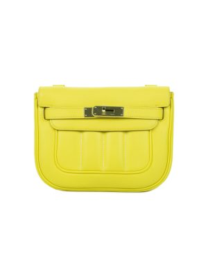 Lime Berline Crossbody Handbag Swift Leather by Hemes