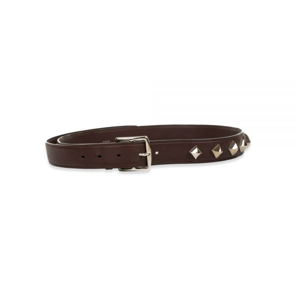 Shop this Brown Studded Leather Belt by Hermès at Le Dressing Monaco - 100% Authentic luxury items. Enjoy free shipping in Europe.